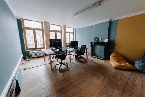 salle principale du coworking